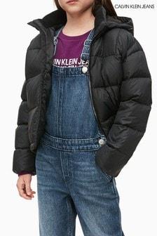 Calvin Klein Jeans Black Boxy Down Jacket