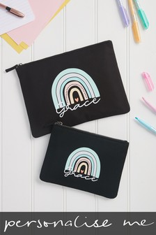 Personalised Rainbow Pencil Case by Loveabode