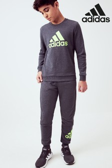 adidas Grey/Green Must Have Joggers