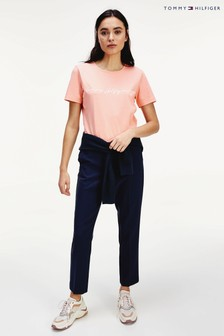 Tommy Hilfiger Pink Annie Relaxed Script T-Shirt