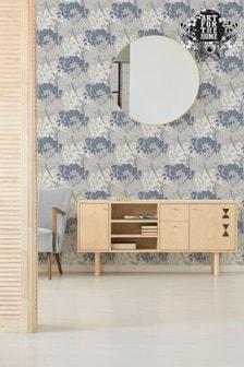 Art For The Home Navy Fresco Lykke Tree Wallpaper