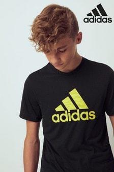 adidas Black/Yellow Training T-Shirt