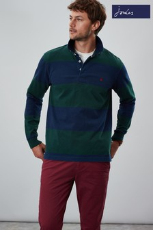 Joules Onside Long Sleeve Stripe Rugby Shirt