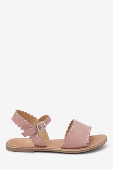 Leather Scalloped Sandals (Older)