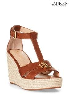 Lauren Ralph Lauren® Leather Hale Wedge Sandals