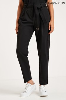 Calvin Klein Black Belted Trousers