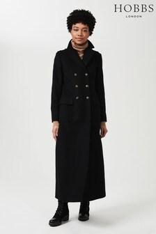 Hobbs Black Bianca Maxi Coat