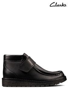 Clarks Black Mendip Root K Boots