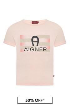 Aigner Pink Cotton T-Shirt