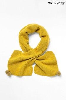 White Stuff 黃色素面圍巾