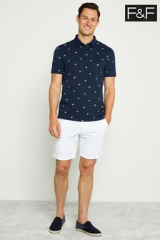 F&F White Chino Shorts