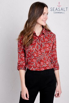 Seasalt Red Larissa Garden Tulip Umber Shirt
