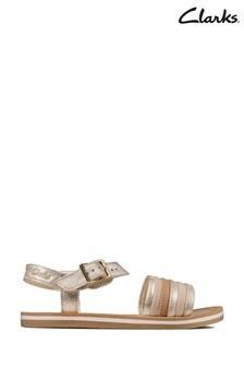Clarks Metallic Combi Finch Stride K Sandals