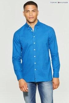 Tommy Hilfiger Blue Slim Gingham Shirt