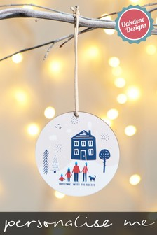 Personalised Scandi Family Hanging Decoration by Oakdene Designs