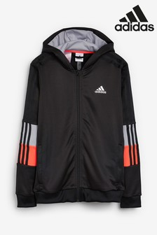 adidas B.A.R 3 Stripe Zip Through Training Hoody