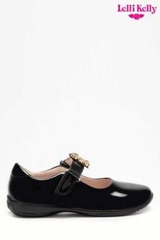 Lelli Kelly Interchangeable Black Patent Bear Shoes