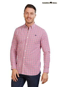 Raging Bull Pink Long Sleeve Multi Check Shirt