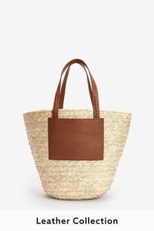 Straw Handheld Shopper Bag
