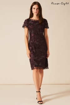 Phase Eight Purple Nessa Embroidered Dress