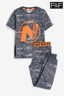 F&F Grey Nerf Hanging Pyjamas