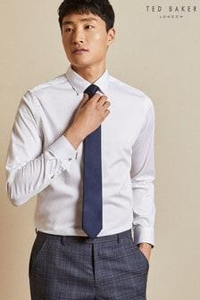 Ted Baker White Otta Stretch Cotton Shirt