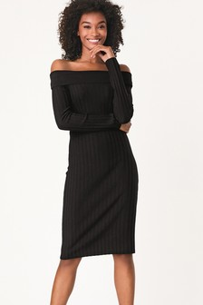 Bardot Rib Dress