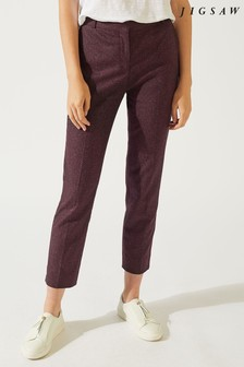 Jigsaw Plum Rose Donegal London Trousers