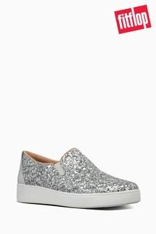 FitFlop™ Silver Sania Glitter Skates Shoe