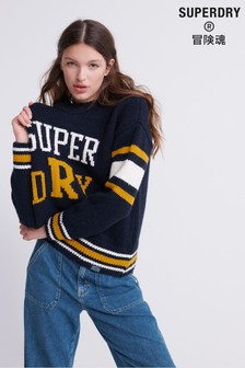 Superdry Intarsia Slouch Knit Jumper