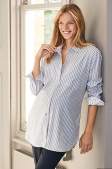 Maternity Longline Stripe Shirt