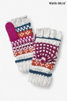 Różowe grube rękawiczki z jednym palcem White Stuff Amelia