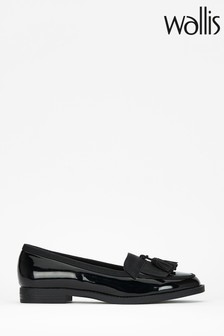 Wallis Buffalo Black Tassel Loafers