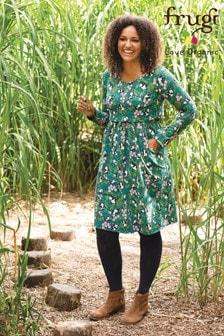 فستان طباعة زهور باندا للرضاعة منFrugi Organic