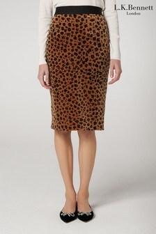 L.K.Bennett Animal Loe Pencil Skirt