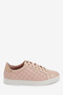 Signature Quilted Lace-Up Trainers