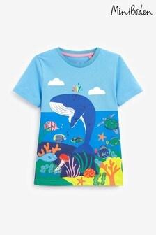 Boden Blue Tropical Scene T-Shirt