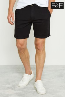 F&F Black Chino Shorts