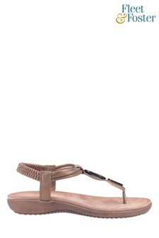 Fleet & Foster Brown Clara Slip-On Sandals