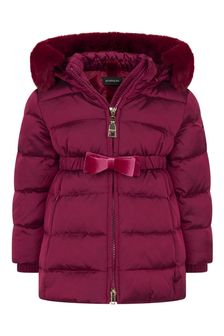 Monnalisa Baby Girls Red Down Padded Coat
