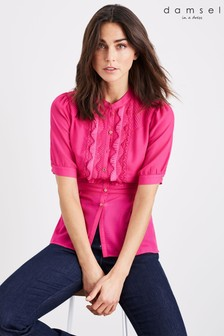 Damsel In A Dress Pink Floria Pleat Blouse