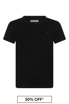 Boys Black Black Logo T-Shirt
