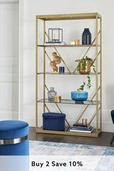 Cailin Gold Display Shelf