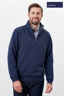 Joules Blue Drayton Quarter Zip Sweat Top