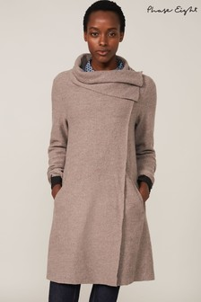 Phase Eight Brown Bellona Knit Coat