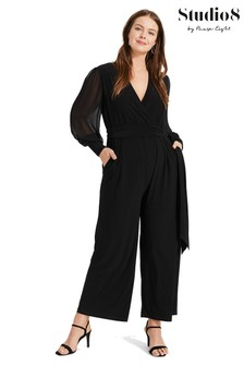 Studio 8 Black Denver Wrap Jumpsuit