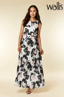 Wallis Floral Pleated Maxi Dress