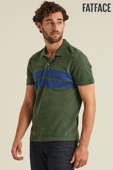 FatFace Green Ely Chest Stripe Polo