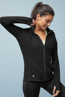 High Neck Fleece Sweat Top