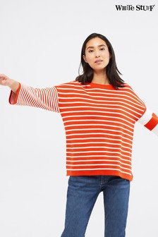 White Stuff Red Ida Stripe Jumper